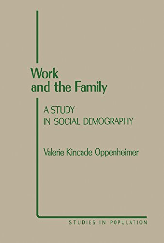 Work and the Family: A Study in Social Demography (Studies in Population) (English Edition) por Valerie Kincade Oppenheimer