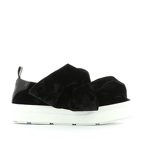 MSGM SLIP ON SNEAKERS DONNA 2142MDS05X305 PELLE NERO