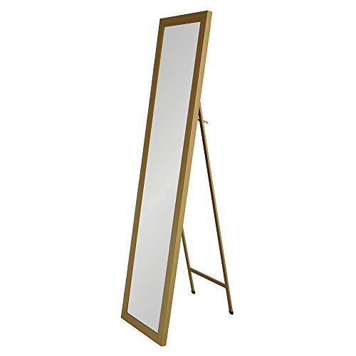 Espejo de pie Beige de plástico clásico para Dormitorio France - LOLAhome