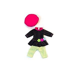 Miniland-31646 Vestido para muñeco, Color Verde y Rosa (31645