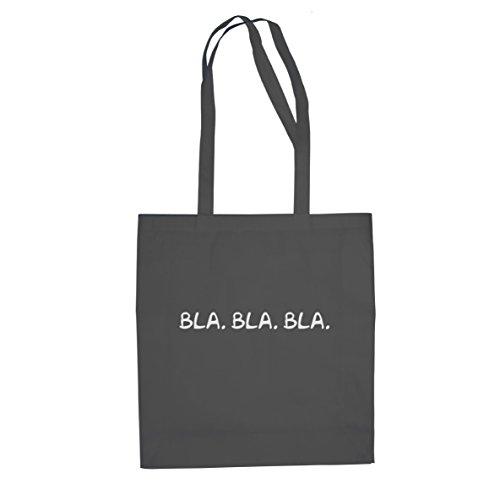 Bla Gelaber - Stofftasche / Beutel Grau