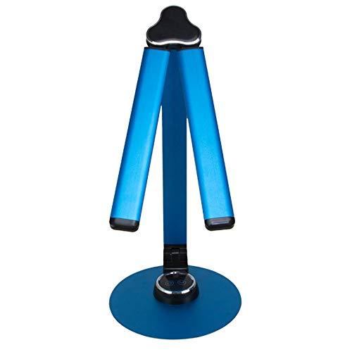 Dual-Kopf wiederaufladbare Faltbare Ed Desk Light, LED Schreibtisch Lamp Learning Eye Protection Lampe, Office Reading Led Desk Lamp, LED Desk Lamp für Schreibtisch Doppel-Lampe - Rotary Switch Light