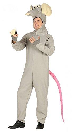 erren-Kostüm Ratte Ratatouille Erwachsene Overall JGA Karneval Fleece Junggesellenabschied, Größe:L (Herren Ratte Kostüm)