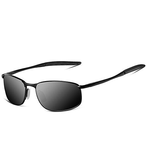 SUNMEET Gafas de sol Hombre Deportivas Polarizadas Golf Gafas de sol Hombre  Polarizadas Marco Metálico S1002 4f71bc99c7