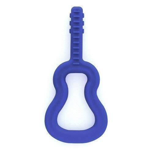 Ark 's Guitar Chew Grabber Sensory Dentición - azul oscuro estándar