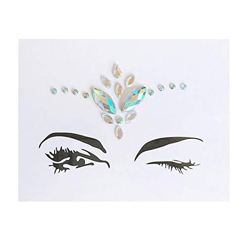 Delicacydex Edelsteine Auge Aufkleber Gesicht Schmuck Temporäre Tattoo Fashion Body Art Dekoration Diamant Flash Paste für Bühne Styling-Tools-Multi-Color