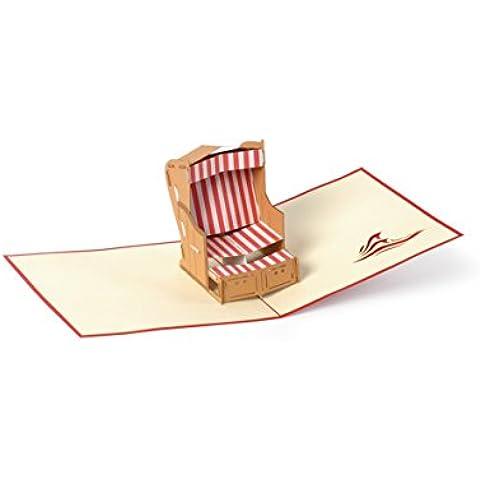 DIESE-KLAPPKARTEN® MARITTIME - Carta di 3D Pop-Up | Vari motivi | Taglio laser | Fatto a mano | Carta di invito | Compleanno | Congratulazioni | Battesimo | Festa | Anniversario | Grazie carta | Ringraziamento, Klappkarten Kategorien:B14 / Strandkorb