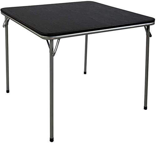 GEZHU Einfacher Tisch Klapptisch quadratischer Tisch Runder Tisch tragbare Holztische im Freien Esstisch kleine Wohnung Klapptisch (Farbe: Schwarz) Praktischer Klapptisch (Color : Black)