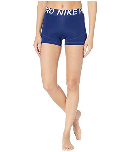 Nike Damen W NP SHRT 3IN Shorts, Blue Void/Black, XS