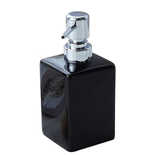 SOAP-P Handseifenspender Einfache Flüssigkeitsspendeflasche Keramische Presslotion (Farbe : Schwarz)
