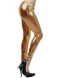 77a54698436bd Espania Trading EST New Women's Metallic Stretch Wet Look American Shinny Legging  Pants in Fashion