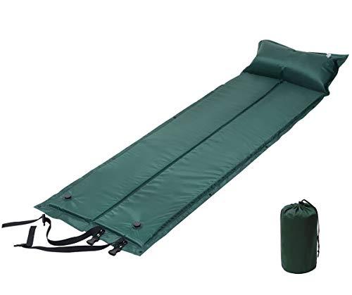 Athyior Ultraligero Esterillas Camping Autoinflable Auto-Hinchable Colchón con Almohada Aire Libre Portátil Dormir Colchoneta Inflable Espuma Cómodo Impermeable para Acampada Senderismo Playa