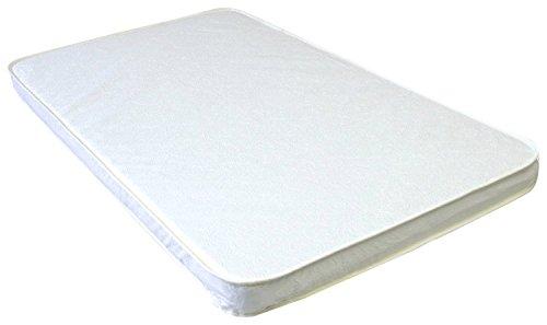 La Baby 2' Compact Crib Mattress, White