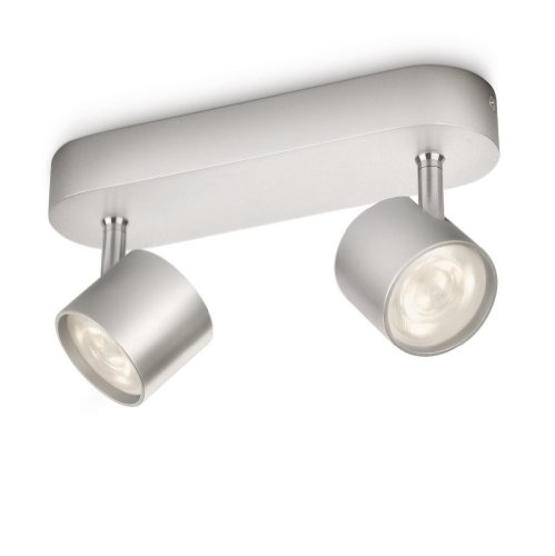 Philips Lighting Star Foco, 4 W, Gris, 2 puntos de luz aluminio