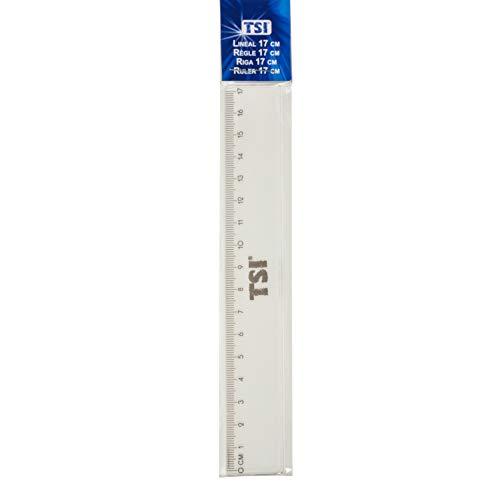 Lineale in verschiedenen Größen | 10cm bis 50cm | aus Kunststoff | für Schule, Freizeit, Hobby oder Beruf (17cm)