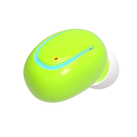 Wireless Bluetooth Headphone Earbuds Wireless Bluetooth Q13 Sport Kopfhörer Mini Invisible Headset Errichtet in Mic für Gym Running Fahren Gut zu tragen und Stereo Sound(Green)