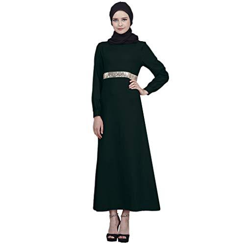 Muslimische Kleider Yesmile Damen Elegante Kaftan Kleid Länge Abaya Islamische Kleidung Vintage Elegant Kleid Casual Slim Fit Petticoat