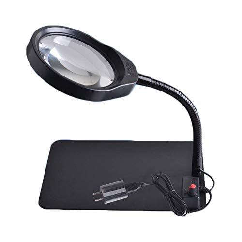 3X/5X/8X/10X vergrößerung Desktop LED Lupenleuchte, Adjustable Helligkeit, USB-Stromversorgung, für die Inspektion Wartung und ältere Lesung,8X -