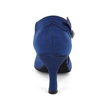 Scarpe da ballo-Personalizzabile-Da donna-Balli latino-americani-Tacco su misura-Finta pelle-Nero / Blu / Altro Blue