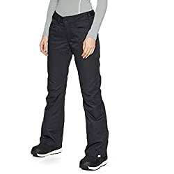 Roxy Backyard-Pantalon de Ski/Snowboard pour Femme, True Black, FR : S (Taille Fabricant : S)