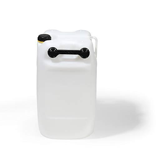 Duhme 60 Liter Kanister - Polyethylen, LxBxH 395 x 350 x 645 mm - natur, ab 5 Stück - Kunststoffbehälter Kunststoffkanister Kunststofftank Tank Wasserfass Wasserfässer Wasserkanister