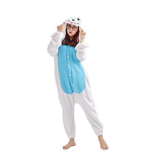 DarkCom Tier-Kostüm für Erwachsene Unisex-Modell Einteiler Jumpsuit ideal Pyjama oder Cosplay-Verkleidung Meer (Tier Meer Kostüme)
