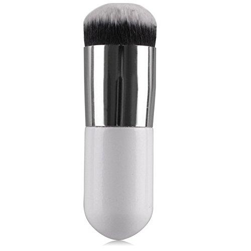 Vococal® Tête Ronde Large Pinceau de Maquillage Maquillage Fondation Poudre BB CC Blush Crème Cosmétique Brosse Silver
