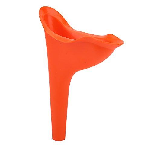 Tragbar Frauenurinal für unterwegs Weibliche Urinal für Reise Camping Outdoor Aktivitäts(Orange)