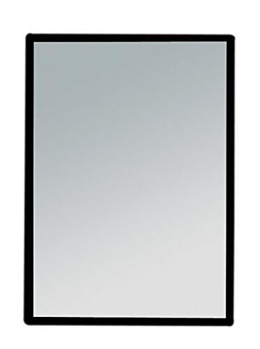 Eckiger kleiner Taschen-Spiegel - Handspiegel, Kosmetex Spiegel mit Kunststoff Korpus, verschiedene Farben, Schwarz