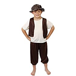 Disfraz para niño Tudor, disfraz de fantasía, para escuela, niño pobre victoriano, niño del renacimiento