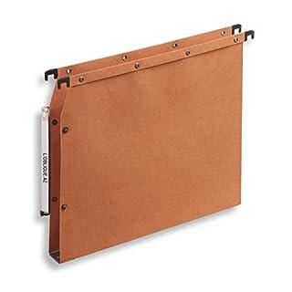 ELBA 100330475 Hängemappe AZV Ultimate 25er Pack DIN A4 Bodenbreite 3 cm aus Kraftkarton vertikale Kennzeichnung orange Recycling-Karton Blauer Engel
