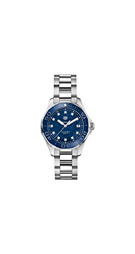 TAG Heuer Aquaracer Azul Madre de Perla Diamante Dial Damas Reloj way131l. ba0748