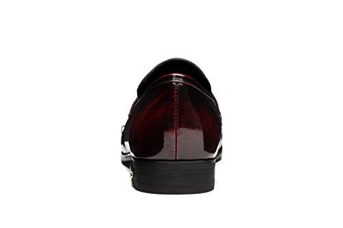 OPP Fashion Scarpe da Uomo Classic Vera Pelle Scarpe Wine