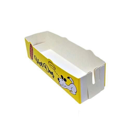 Amosfun 50er Einweg-Pappkarton für Pommes Frites Chicken