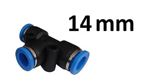 Stück T-Stück - Push In Steckverbinder - (14mm Schlauchanschluss)