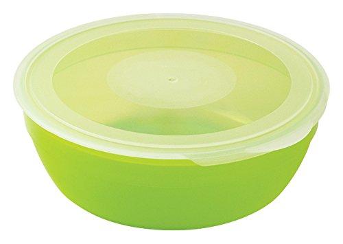 Plastorex - Caja de polipropileno apta para microondas (350 ml), color verde Talla:60 cl