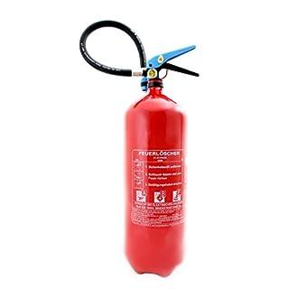 6L Fettbrand Schaum Feuerlöscher mit Manometer DIN EN3 Orig. ANDRIS® Made in EU + ANDRIS® Prüfnachweis & ISO Symbolschild + Löschdecke 1m x 1m