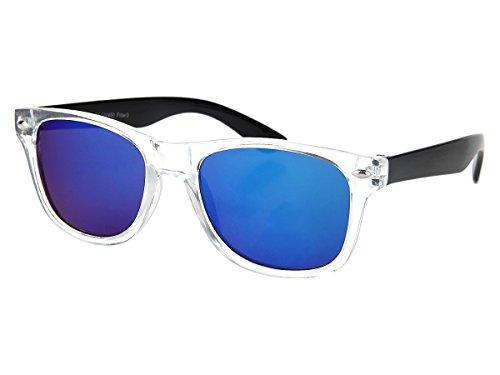 Alsino Kinder Sonnenbrille Verspiegelt 'Junior' für Mädchen & Jungen, Gläser in Optiker-Qualität (K-107), Farbe: Schwarz - 12 cm Bügellänge