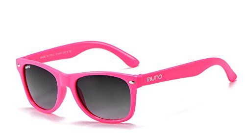 Miuno® Kinder Sonnenbrille Wayfare für Jungen und Mädchen Etui 2688 (Pink)