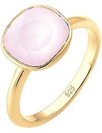Elli  Damen-Ring Vergoldet Kristall pink Prinzess   Gr. 58 (18.5) - 0605670316_58