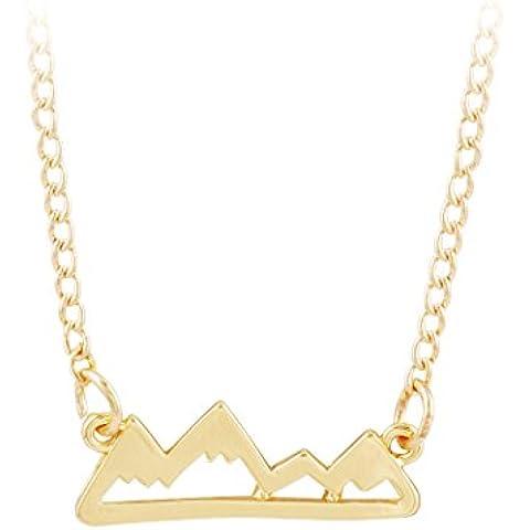 Jane piedra Declaración de aleación de forma de la montaña Jewelry Collar con Colgante de Mini (fn1819)