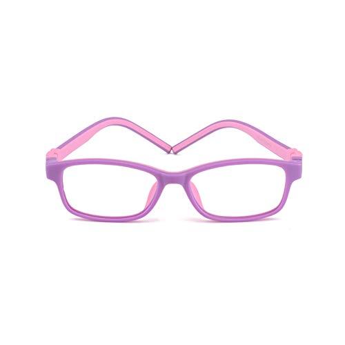 Kinder Brille, stilvolle Jungen Mädchen Anti blaues Licht optische Brillen Anti-Müdigkeit, UV-Schutz Computer Handy Brille HD Linsen Spiel Kinder Brille-4