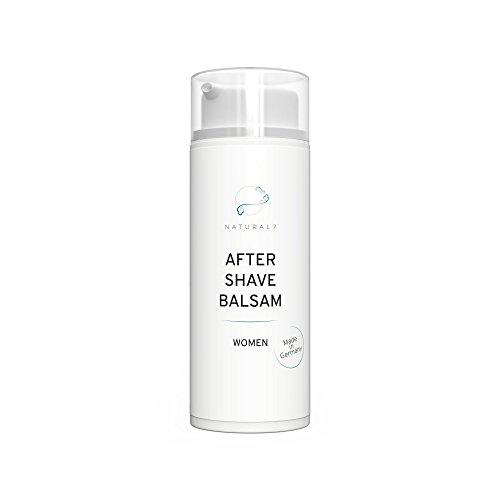 NATURAL7® After Shave Balsam Women | 50ml Reisegröße Frauen| Die effektivste Methode gegen Rötungen und Pickel nach Intimrasur, Epilieren oder Waxing