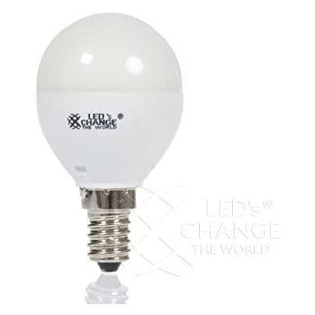 LEDs Change The World LED Lampe Tropfenform E14 4,4Watt ersetzt min. 25Watt echtes warmweiß 2700 Kelvin