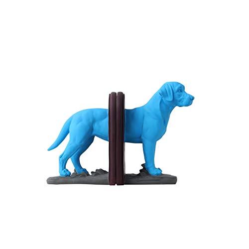 HAMIMI Buchstütze Blue Elephant Dog Buchstütze Nordic Style Desktop Decoration Praktisches Handwerk 29x22.5cm Speichereinheit (Color : B) -
