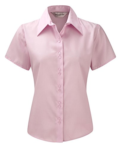 Russell Collection Womens Ultimate Non Iron Srt Sleeve Shirt Rose classique