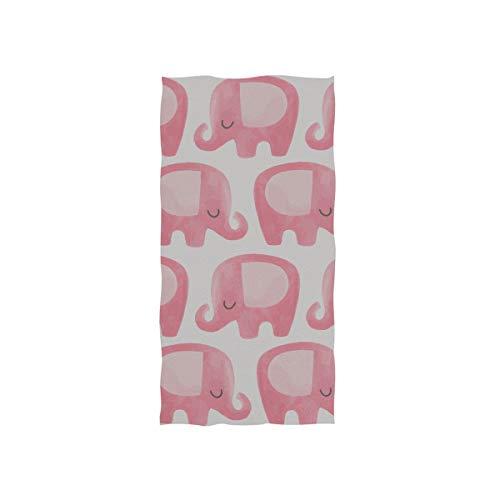Rosa Elefant große süße Ohr weichen Spa Strand Badetuch Fingertip Handtuch Waschlappen für Baby Erwachsene Bad Strand Dusche Wrap Hotel Travel Gym Sport 30 x 15 Zoll