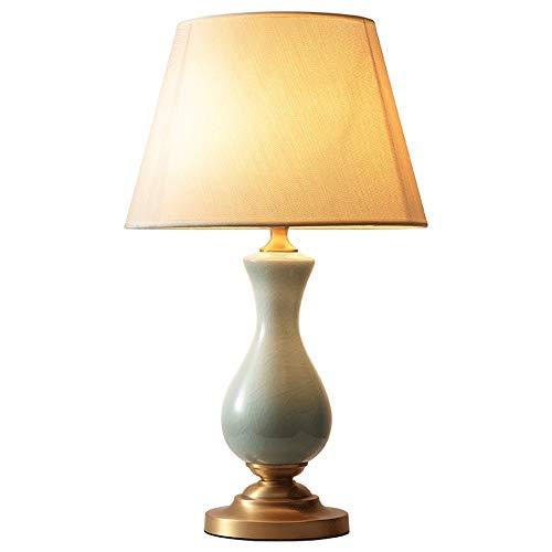 Lampada da tavolo camera da letto camera matrimoniale semplice illuminazione decorativa lampada da tavolo in rame da comodino cliente in ceramica creativa
