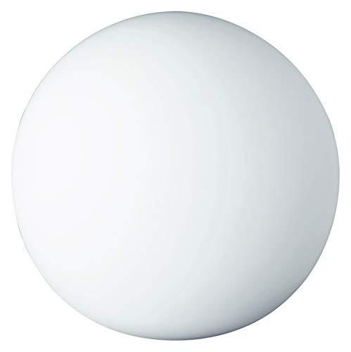 Glas Kugel Leuchte (Reality Leuchten Tischleuchte Kugel, ohne Leuchtmittel, Durchmesser 20 cm, mit Schnurschalter, 1 x E27 maximum 25 W, Glas opal weiß R5220-07)