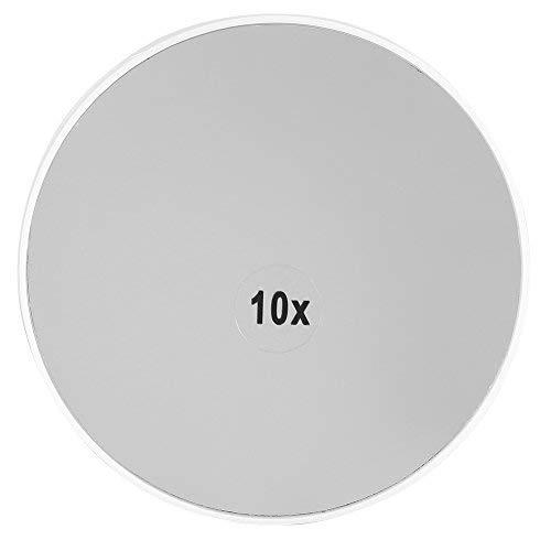 10X Vergrößerungsspiegel Make-up Eitelkeits-Spiegel abnehmbarer Schönheits-Spiegel mit Saugnapf 3,5 Zoll-runder Verfassungs-Kosmetik-Spiegel für Badezimmer-Schlafzimmer-Tabelle (Eitelkeiten Tops Mit)